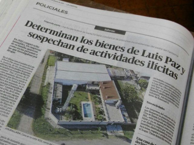 Una nota de La Capital que anticipó el vínculo de Luis Paz con el narcotráfico