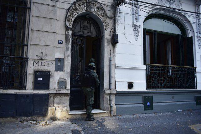 Parte del operativo en Rosario ordenado por la Justicia Federal.