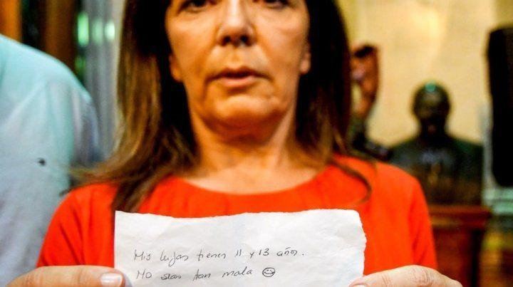 La diputada nacional Gabriela Cerruti mostró la nota que le mandó el ministro de Finanzas