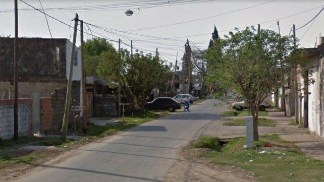La cuadra donde hoy ocurrió el ataque a balazos por el que finalmente cayó Pechocho.