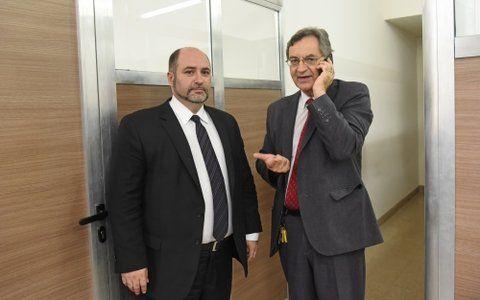 jueces. Gustavo Pérez de Urrechu y Luis María Caterina plantearon la situación que viven a diario en sus despachos.