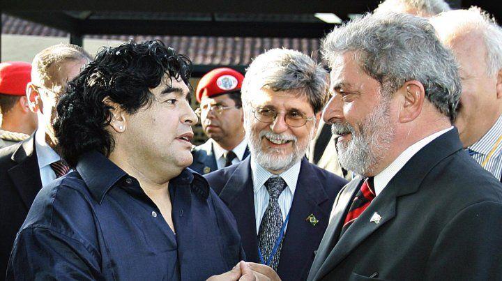 Otros tiempos. Maradona y Lula en la Cumbre de Mar del Plata de 2005.