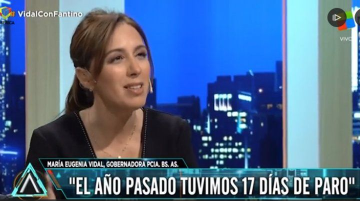 Vidal: Los dirigentes llevan a los docentes a paros sin sentido