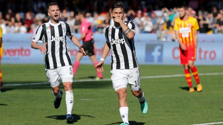 Triplete. Dybala fue la gran figura de Juventus