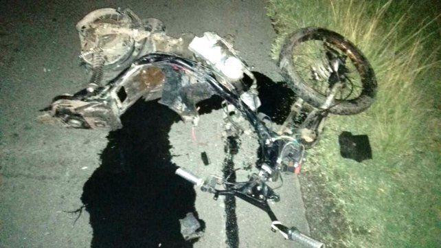 Un motociclista murió tras chocar contra un auto cerca de San Gregorio