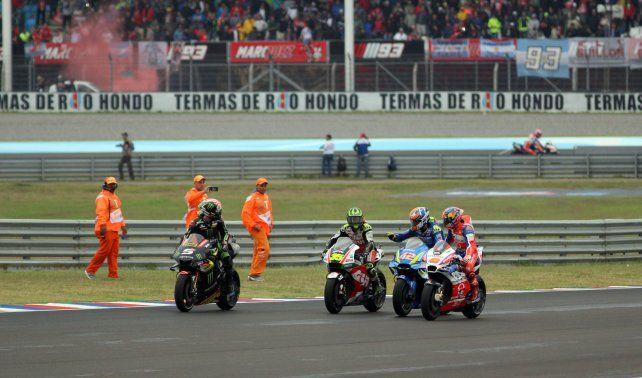 MotoGP: El inglés Crutchlow se impuso en un dramático GP de Argentina