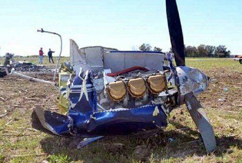 Tragedia aérea. Los restos del avión PA 34 Piper Seneca