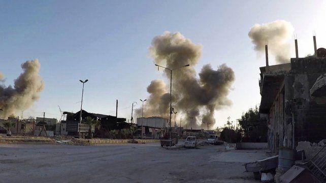 Los Cascos Blancos sirios aportaron esta imagen del sábado en Duma