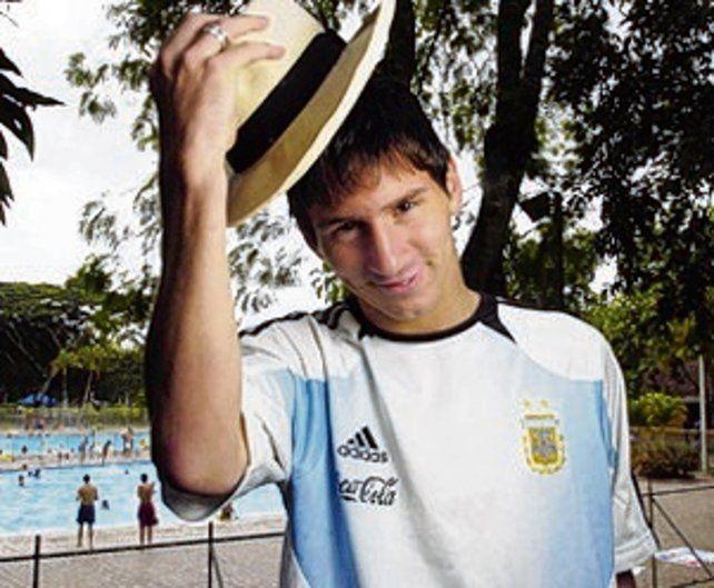 Fotos de Messi para periodistas