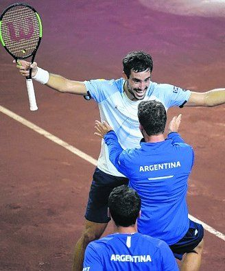 Festejo. Argentina ganó en San Juan.
