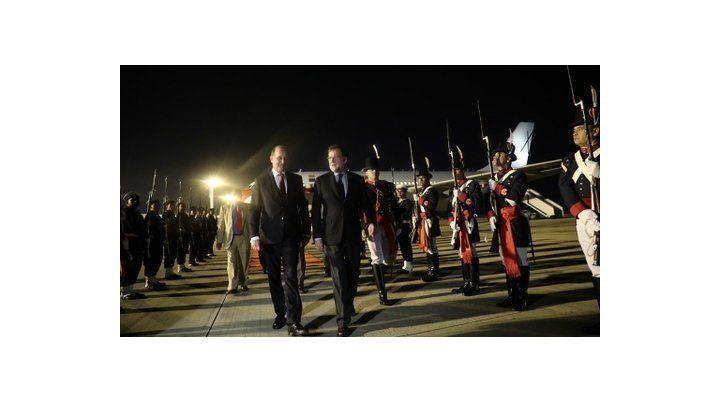 inicio de gira. Mariano Rajoy llegó anoche a la Capital Federal.