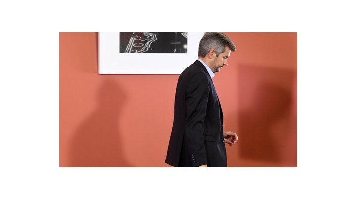 jefe de gabinete. Peña recibió ayer en la Casa Rosada a sus aliados.