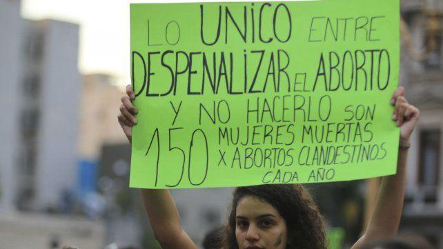 Una de las movilizaciones por el aborto legal.