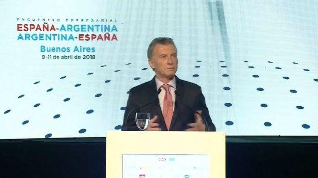 Macri: El ejemplo de España es muy bueno, estamos siguiendo el mismo rumbo
