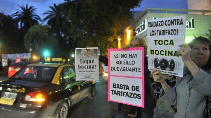 Una de las protestas contra los tarifazos impulsadas por la Multisectorial.