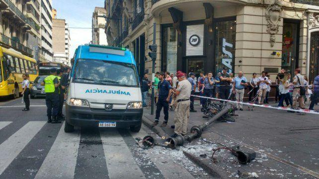 Así se desplomó la columna en Córdoba y Corrientes.