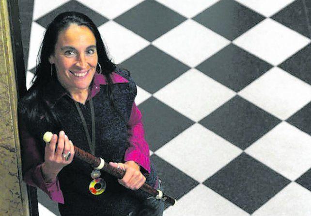 talento local. La flautista y cantante Diana Baroni.