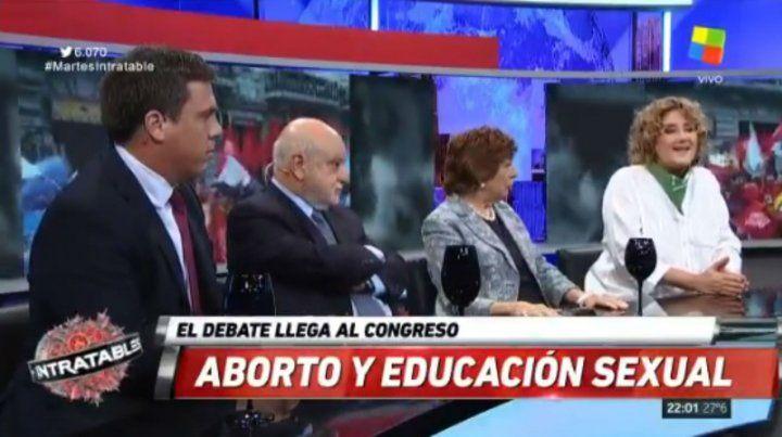 Fuerte debate en Intratables por la despenalización del aborto