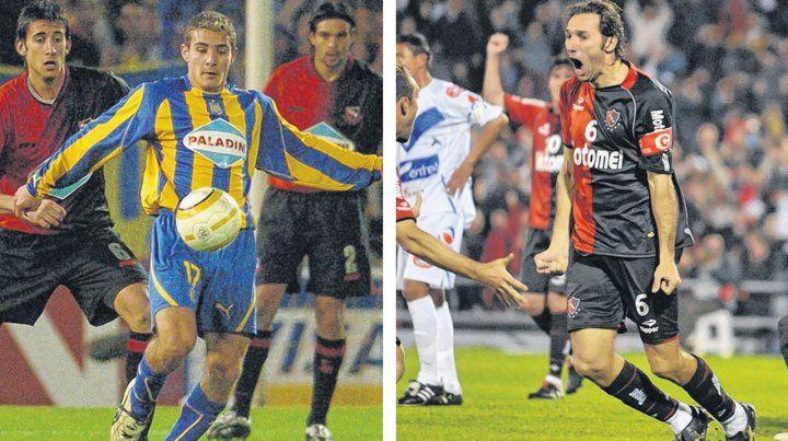 Ruben participó de la edición 2005 y mañana estará ante San Pablo. Schiavi celebra uno de los tantos que anotó en 2010 ante San José Oruro.