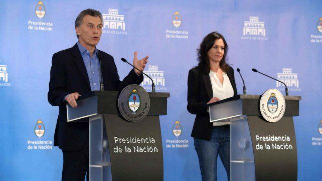 Macri junto a la ministra de Desarrollo Social Carolina Stanley.