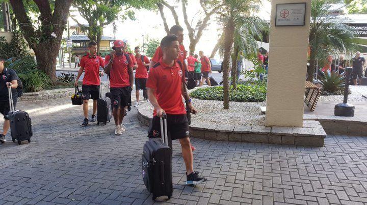 El plantel llega al hotel Rassor
