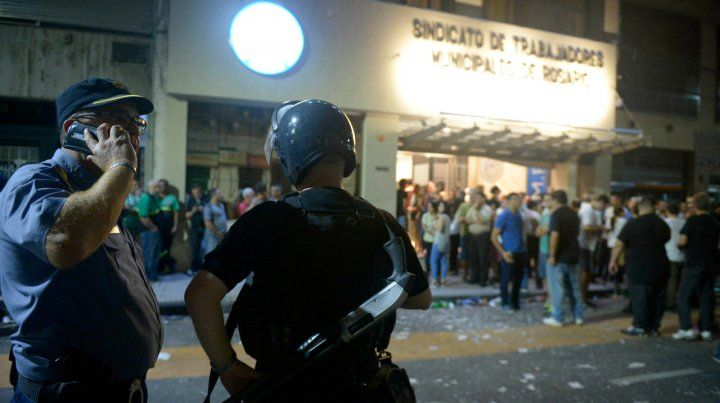 Las filmaciones de los enfrentamientos en el Sindicato de Municipales