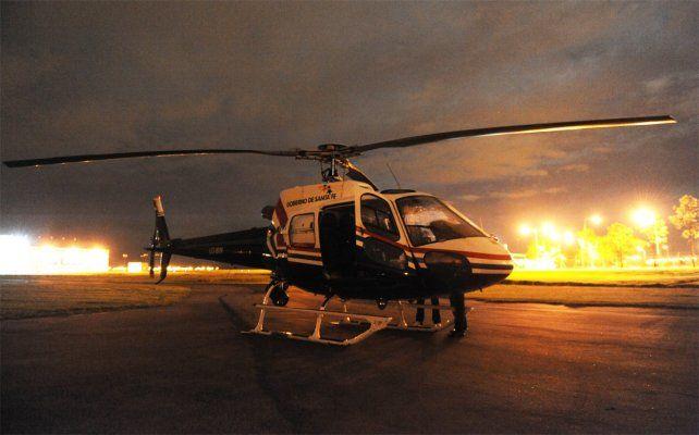 Denuncian que fue baleado el helicóptero de la policía en la zona sur