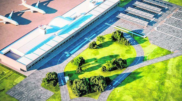 lo que viene. La aeroestación local sumará espacios para vehículos.