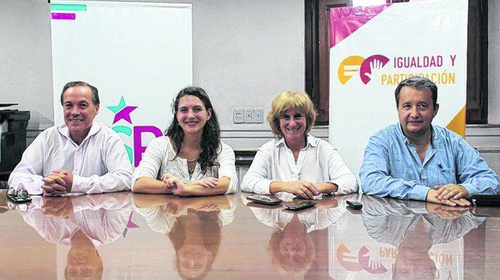 mesa. Los integrantes del flamante interbloque Igualdad
