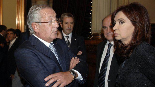 La expresidenta Cristina Kirchner con Fellner