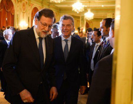 mismo palo. Rajoy coincidió con Macri al condenar al populismo.