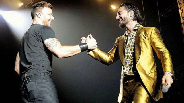 Explosivo encuentro de Ricky Martin y Maluma en Los Angeles