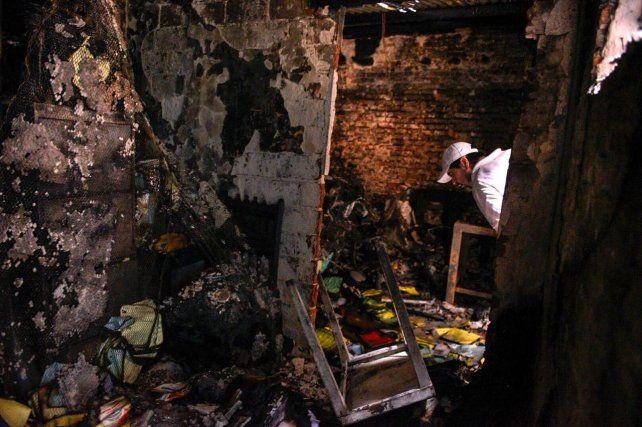 Un incendio causó graves daños en un taller donde trabajan chicos discapacitados