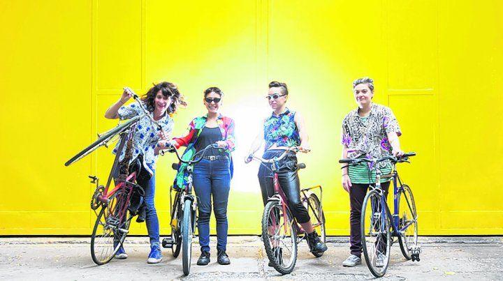 Fuertes y divertidas. Las Alto Guiso participaron en distintos festivales y también actuaron en Brasil.