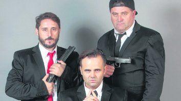 a los tiros. Federico Giusti, Mariano Rey y Ariel Fumis, los protagonistas.