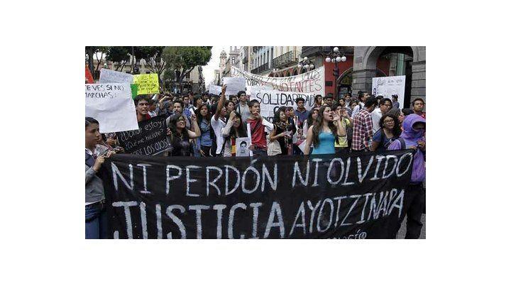 reclamo. La matanza y desaparición de los estudiantes desató una ola de repudio internacional.