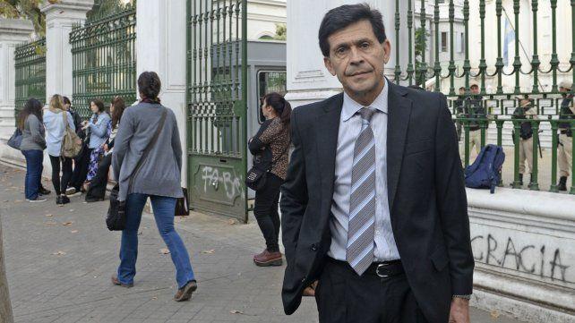 Néstor Oroño, el abogado defensor del Hugo Tognoli, en los Tribunales Federales.