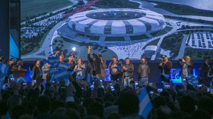 Firmaron un convenio para la construcción del Estadio Unico de Santiago del Estero
