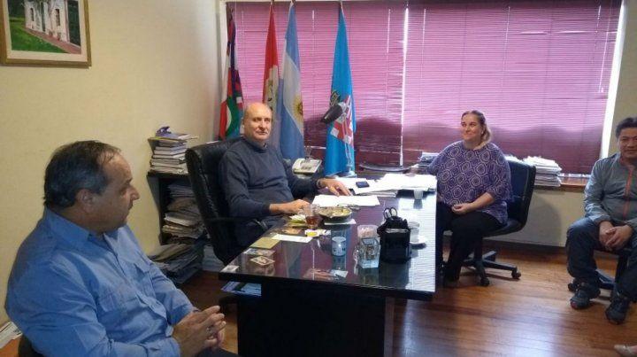 Encuentro. El intendente Marucci se reunió con el comisario Guazzaroni.