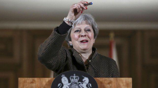 May fue duramente criticada por la oposición.