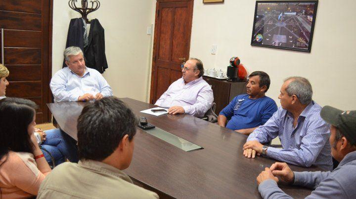 Cónclave. Amaro González se reunió con miembros de la Sitram y delegados gremiales.