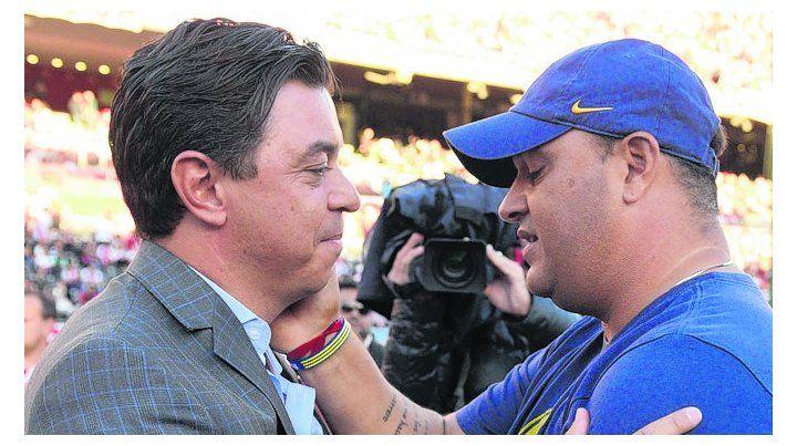 Ex compañeros. Marcelo Gallardo y Leo Fernández compartieron plantel en River.