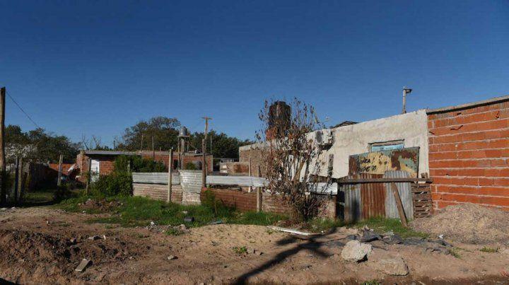 La casa donde anoche fue atacado Víctor Maidana.