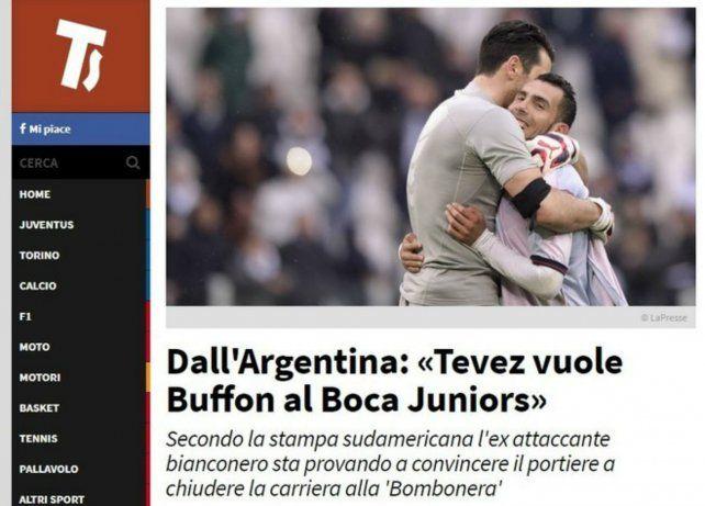 <div>La nota de Tuttosport sobre el rumor de Buffon a Boca.</div><div><br></div>