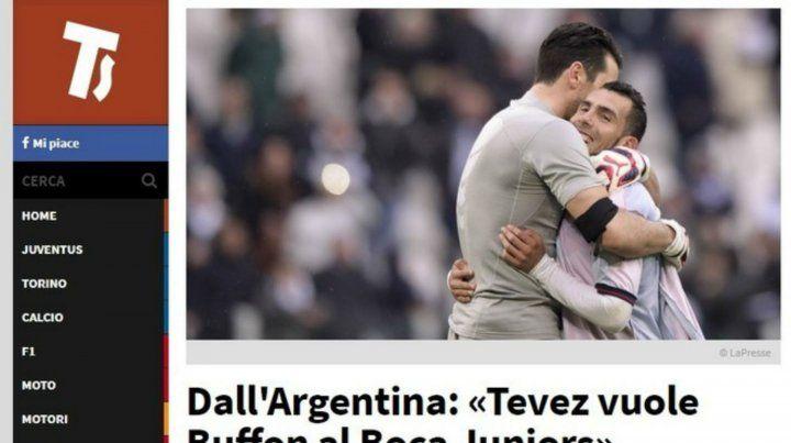 La nota deTuttosportsobre el rumor de Buffon a Boca.