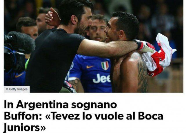 Corriere dello Sport también se hizo eco del posible desembarco de Buffon en Boca.