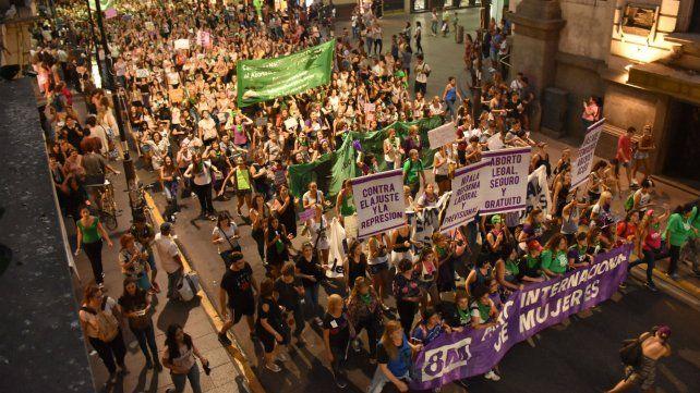 Día internacional de la mujer. El 8 de marzo se produjo la marcha más importante del primer trimestre.