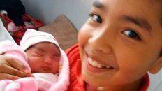 nacio maria luz, la hija de un tripulante del ara san juan