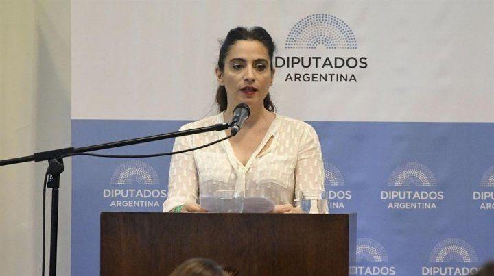 Mensaje. La actriz Muriel Santa Ana defendió la despenalización del aborto en el Congreso.