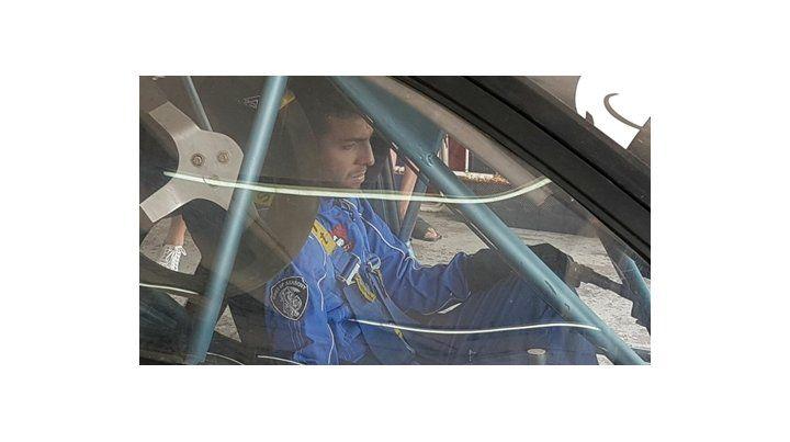 nachito. Actis Caporale fue apresado al volante de un auto de carrera.